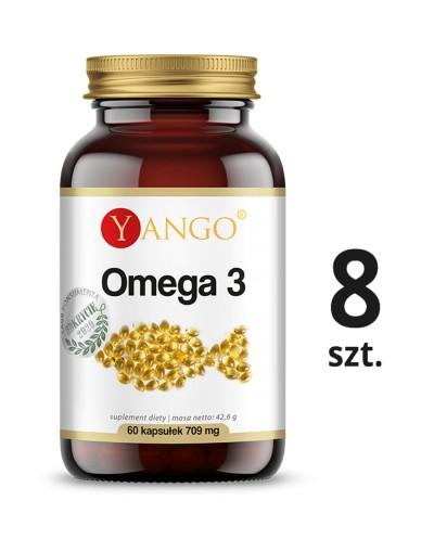 8 szt. Omega 3 - 500 mg 35% EPA 25% DHA - 60 kapsułek